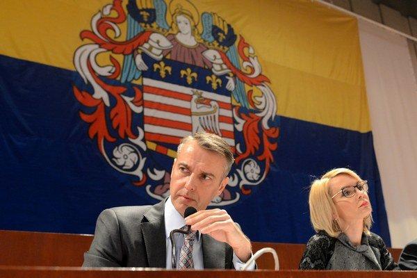 Primátor Košíc Richard Raši (vľavo) a viceprimátorka Renáta Lenártová (vpravo.