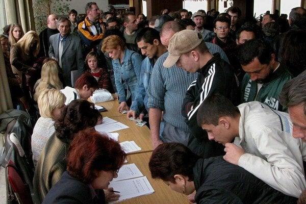 Najvyššia nezamestnanosť je na východe Slovenska.