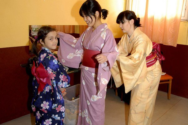 Exotická móda. Na podujatí si môžete vyskúšať kimono.
