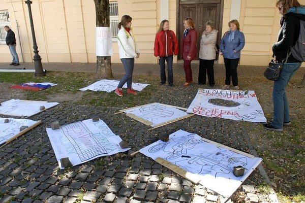 Protestujúce sestry v Košiciach.
