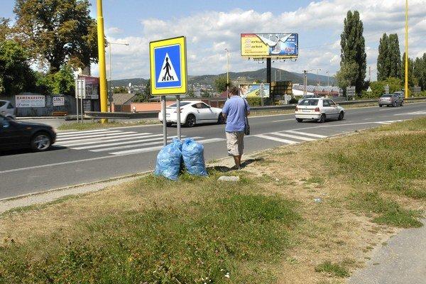 Priechod pre chodcov na Prešovskej ceste.