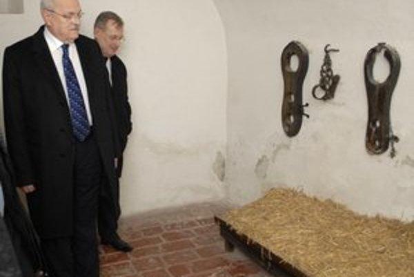 Mučiareň v Miklušovej väznici. Prezidentovi sa nezdala dostatočne dobrá na bývanie.