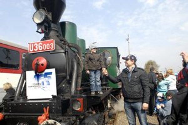 Nadšené detváky. Ale aj železničiari, ktorí vytvárali výbornú atmosféru.