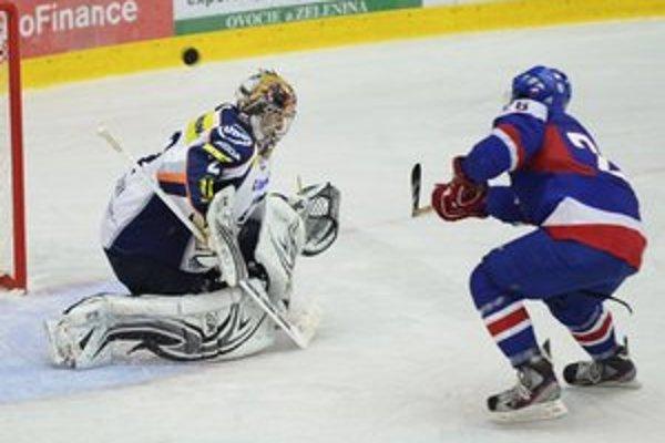 Na Tatranskom pohári v zápase medzi HK Orange 20 - HC Košice v Poprade bol v bránke Košíc Dominik Riečický.