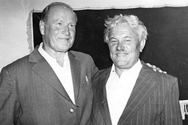 Tibor Ludvigh s priateľom, maďarským diskárskym rekordérom Ferencom Klicsom (vpravo).