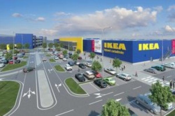 Bratislavská Ikea. V hlavnom meste sa rozširuje, na východe sa odďaľuje jej výstavba