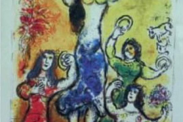 Grafický list Chagalla. Patril k dielam, ktoré na aukcii vzbudili najväčší záujem.