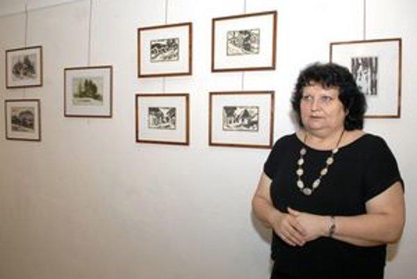 Najnovšia umelcova tvorba. Júliusovi Hegyesymu ju do podoby výstavy sformovala manželka Ľudmila.