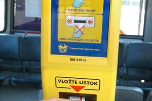 Označovače majú občas problémy s prijatím lístka.