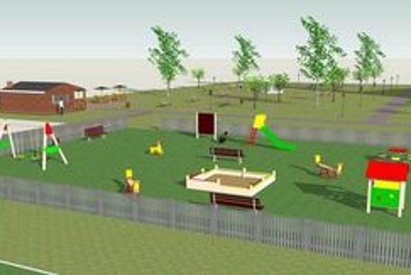 Investícia pre deti. Takto by malo vyzerať ihrisko, ktoré na Pereši postavia už na jar budúceho roka.