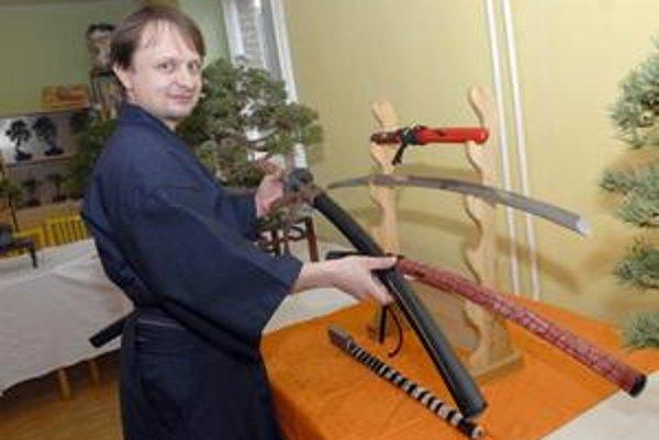 Mirek Králík z Česka. Jeho prednáška o japonskom meči zožala úspech.