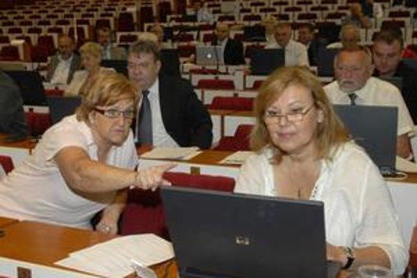 Katarína Čižmáriková a Ľuba Blaškovičová (vpravo) sa pohybujú v komunálnej politike už roky. Momentálne sú mestské i miestne poslankyne.