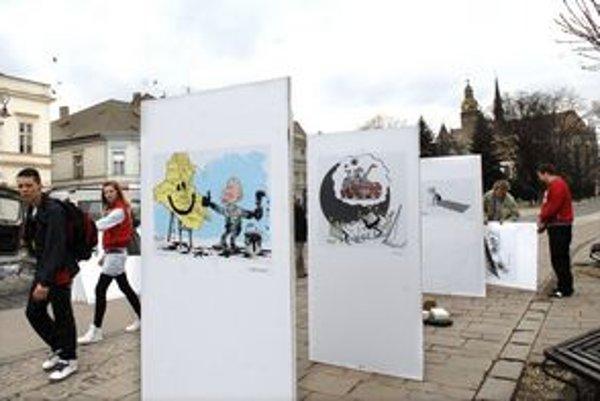 Karikatúry na Hlavnej. Umenie na ulici nemôžete obísť.