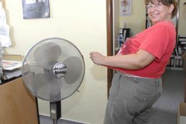 Ventilátor v interiéri. Chvíľku postáť pri ventilátore je počas horúčav vítané osvieženie.
