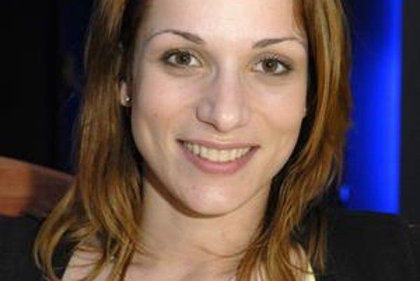 Herečka Zuzana Kanócz.