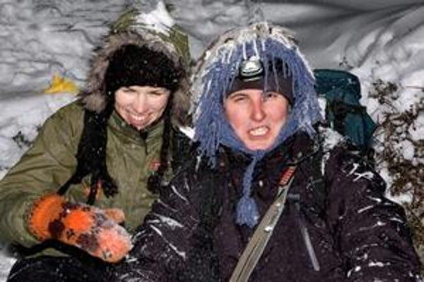Ebe a Manik počas výstupu na osemtisícovku Mt. Iuventus.