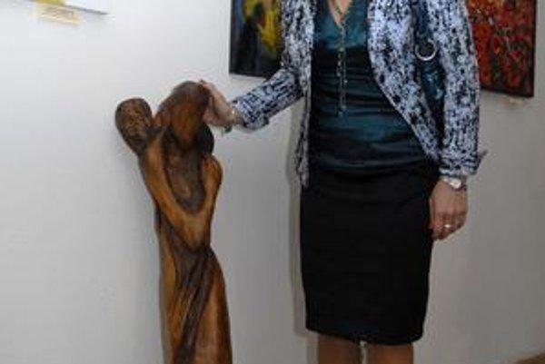 Víťazka hlavnej ceny. Adriana Szekeressová a jej Smutný anjel.
