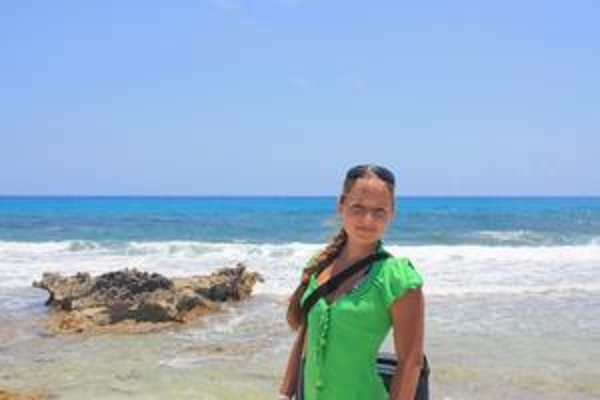 Emília Doničová pri Karibskom mori
