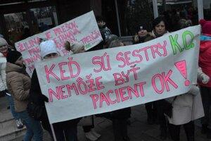 Protest sestier v Prešove.