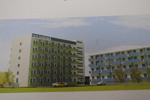 Vizualizácia. Takto by mal vyzerať bytový komplex.