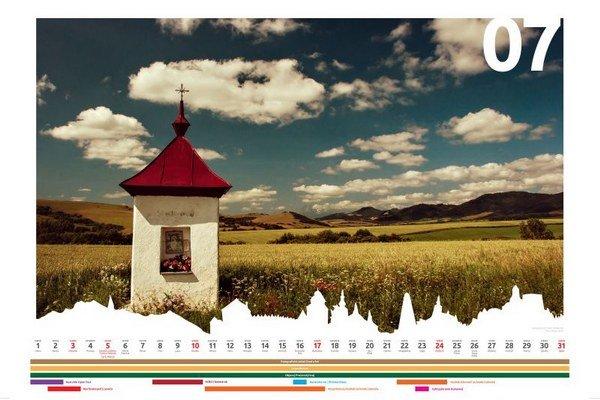 Jedna zo strán oceneného kalendára.