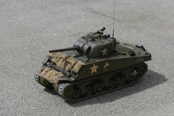 Na snímke model amerického tanku Sherman.