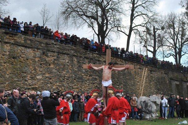 Časť prešovských hradieb nad Záhradou umenia.