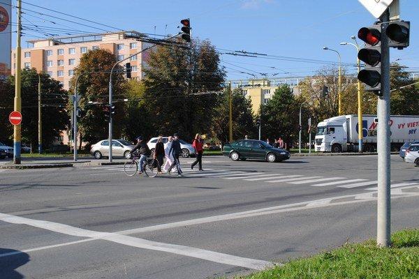 Levočská ulica. Najviac podnetov poslali obyvatelia k tejto zložitej mestskej komunikácii.