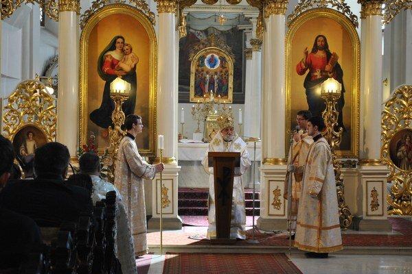 Patriarcha Gregor III. Slúžil liturgiu v prešovskej katedrále.