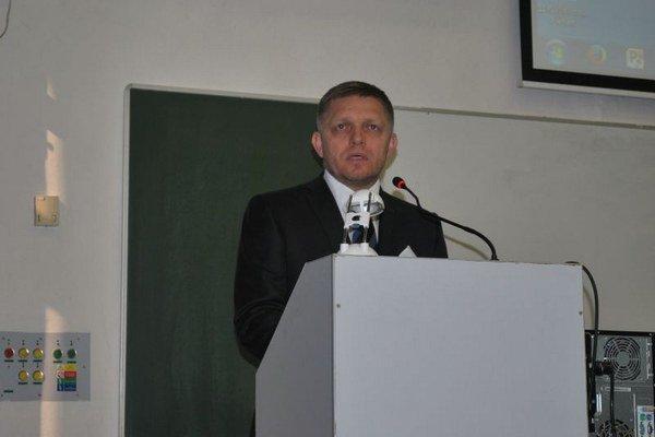 Premiér diskutoval na pôde Prešovskej univerzity.