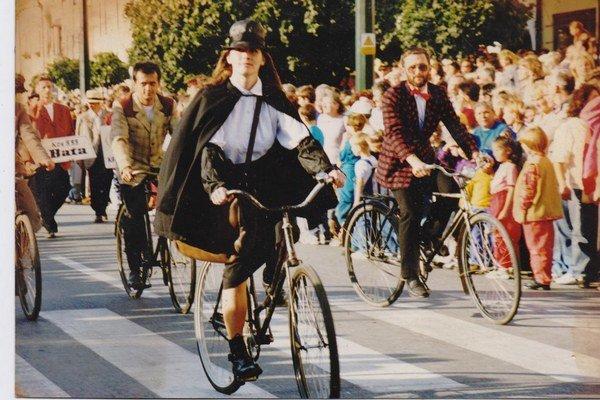 Vierka Štupáková počas 750. výročia prvej písomnej zmienky o Prešove (1997).