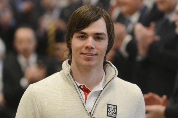 Matej Falat. V úvodnom tréningu na olympijský zjazd v Soči obsadil 58. miesto