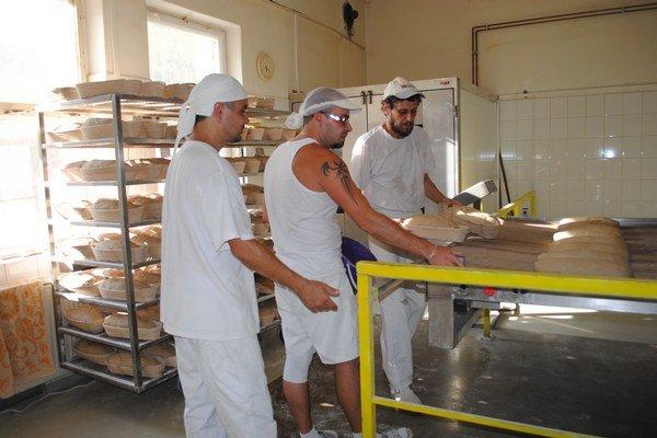 V pekárni. Teplomer už ani nesledujú, pri sádzaní chleba do pece zvlášť.