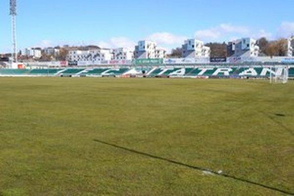 Futbalový štadión v Prešove.