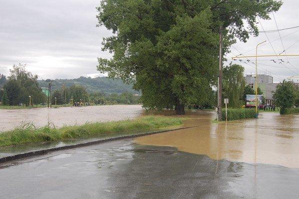 Povodeň v Prešove v roku 2010.