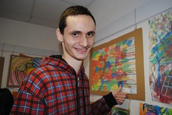 19–ročný Jakub získal špeciálnu cenu poroty za obrázok o vzniku kozmu.