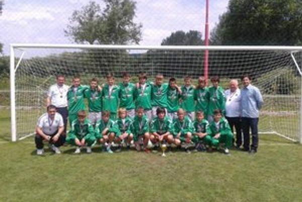 Starší žiaci 1. FC Tatran Prešov. Na M-SR získali bronzové medaily.