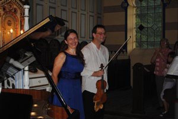 Koncert v Židovskej synagóge. D. Duždová a I. Karško predviedli Prešovčanom svoje umenie.