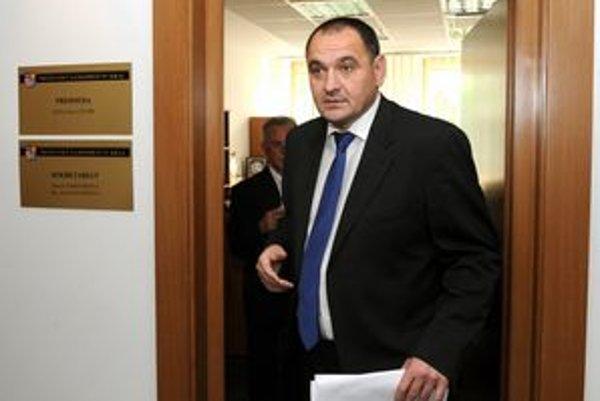 Predseda PSK Peter Chudík po dnešnom rokovaní.