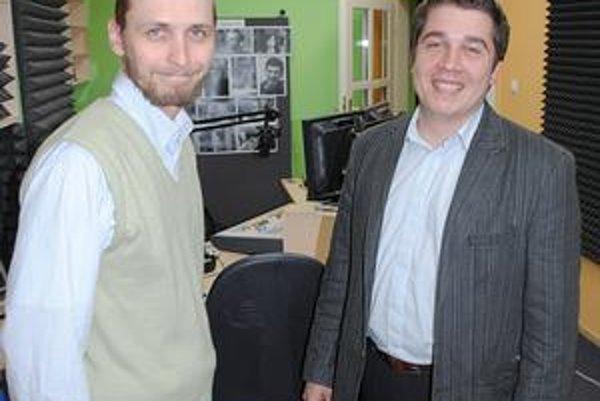 V Rádiu Prešov. Martin Višňovský (vľavo) a Peter Šima.