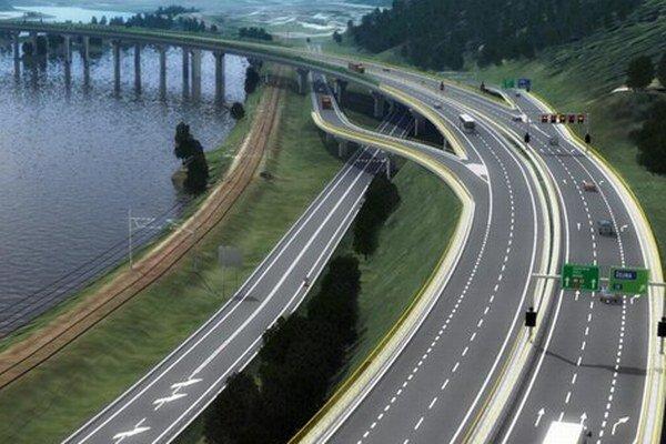 Diaľnica pôjde ponad priehradu pri Žiline i cez tunel.