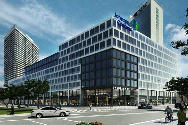 Johnson Controls má sídliť v deväťpodlažnej administratívnej budove za obytnými dvojičkami, ktoré sú práve vo výstavbe.