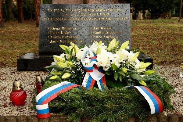 Pamätník obetiam výbuchu.