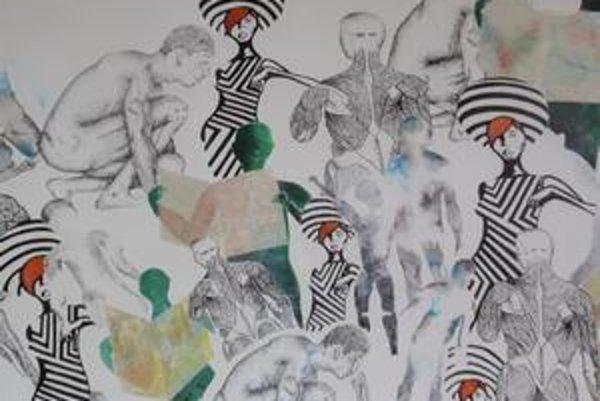 Víťazný obraz. Je dielom Petry Kmecovej z 2. A.