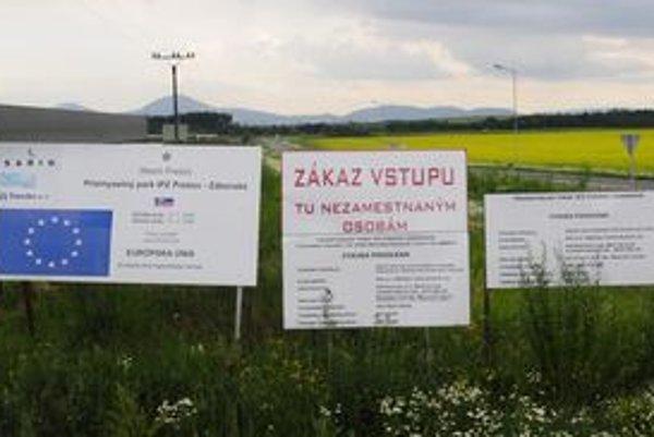 Priemyselný park v Prešove je zatiaľ bez strategického investora.