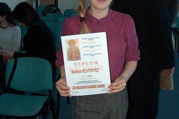 Barbora Plutová. Do súťaže poslala tri básničky.