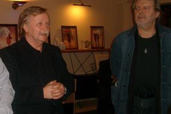 Ladislav Demko (vľavo). Námetov a zážitkov má plnú hlavu.