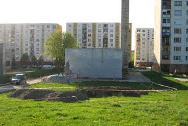 Lokalita za kotolňou. Na Ulici generála Svobodu vo Svidníku.