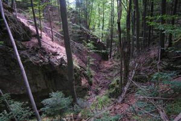 Lačnovský kaňon. V tejto tiesňave je mnoho malebných kútov.