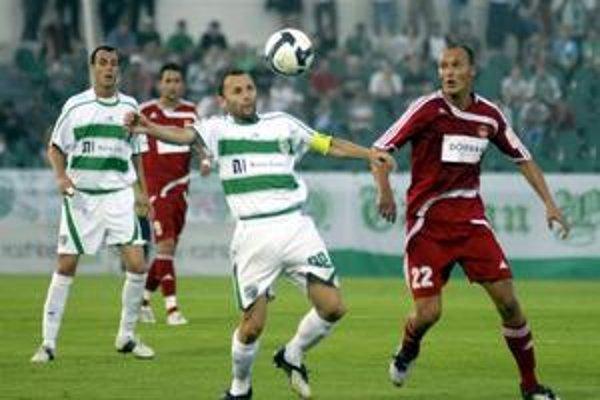 Marek Penksa. Kapitán zeleno-bielych dal v príprave dva góly.
